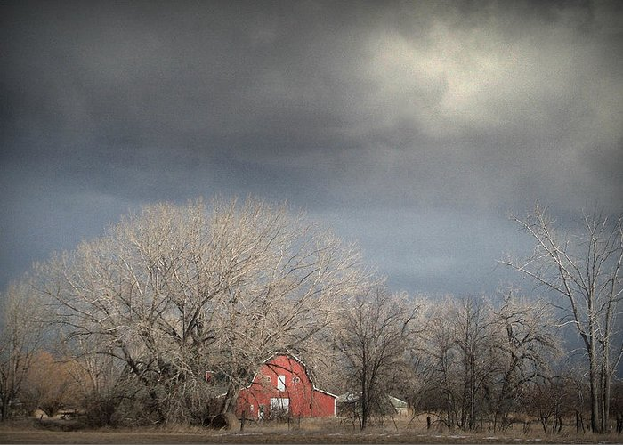 Barns Greeting Card featuring the photograph Country Storms.. by Al Swasey