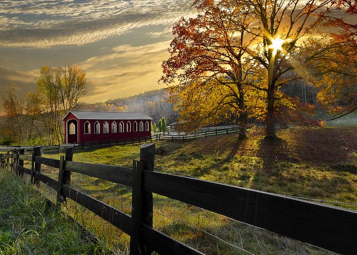 Appalachia Greeting Card featuring the photograph Country Times by Debra and Dave Vanderlaan
