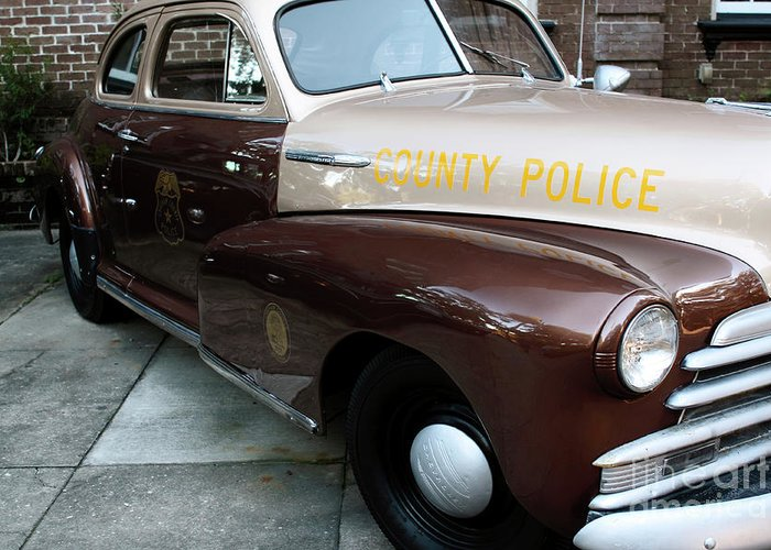 Police Car Greeting Card featuring the photograph County Police by John Rizzuto