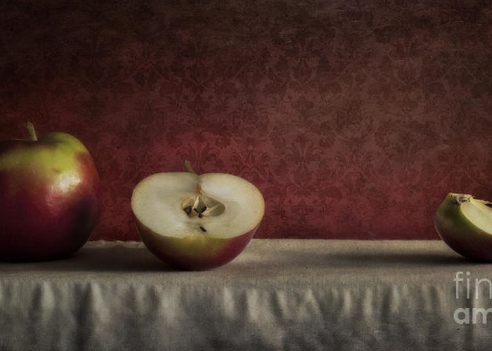Cutted Greeting Card featuring the photograph Cox Orange Apples by Priska Wettstein