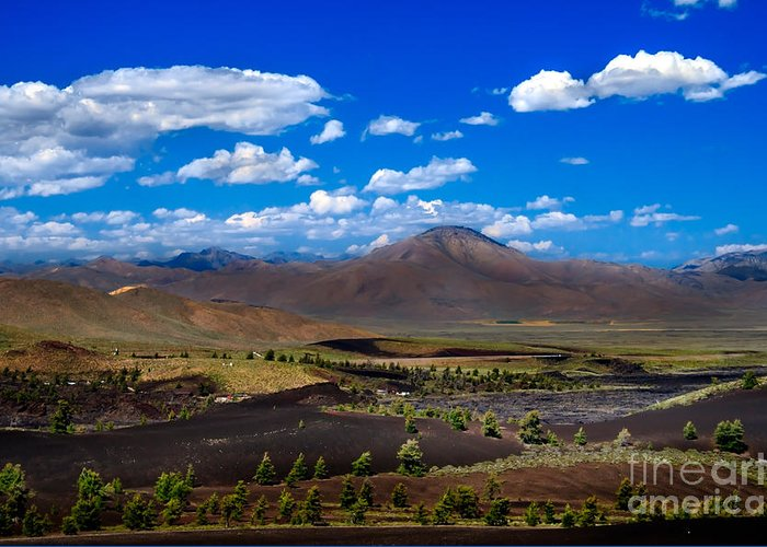 Craters Of The Moon Greeting Card featuring the photograph Craters Of The Moon by Robert Bales