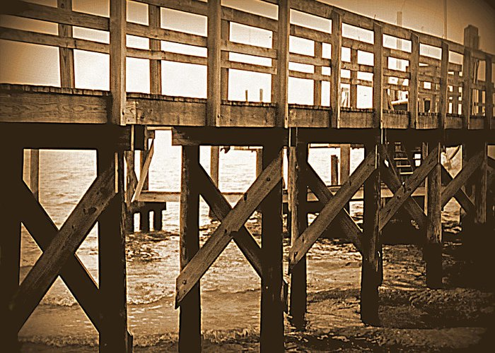 Boardwalk Greeting Card featuring the photograph Crisscross by Sheri McLeroy