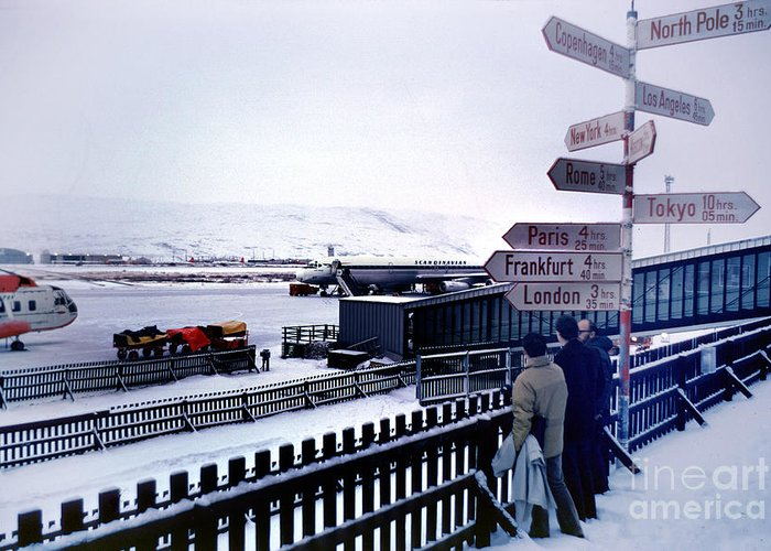 Road Sign Greeting Card featuring the photograph Crossroads In Iceland by Wernher Krutein
