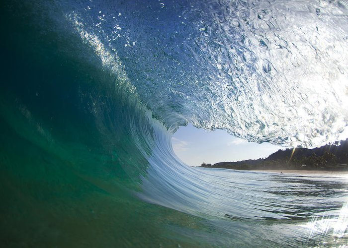 Wave Greeting Card featuring the photograph Curtain Coming Down by Sean Davey