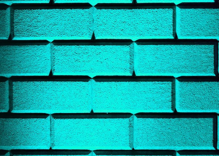 Cyan Greeting Card featuring the photograph Cyan Wall by Semmick Photo