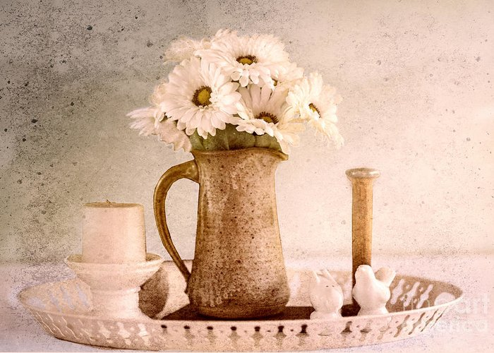 Still Life Greeting Card featuring the photograph Daisies by Betty LaRue
