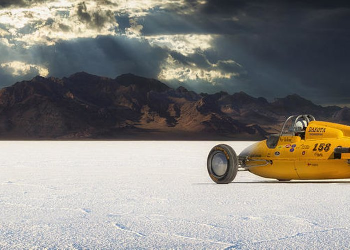 Bonneville Greeting Card featuring the photograph Dakota 158 by Keith Berr