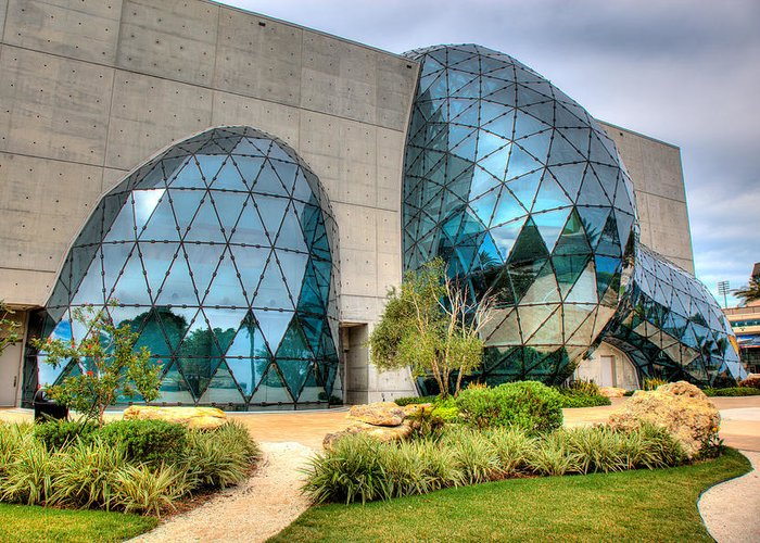 Dali Museum Greeting Card featuring the photograph Dali Museum St Petersburg Florida by Mal Bray