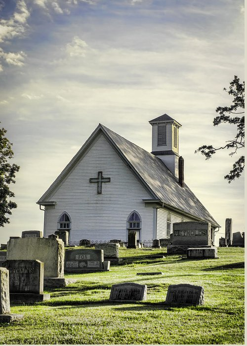 Church Greeting Card featuring the photograph Dappled Light by Heather Applegate