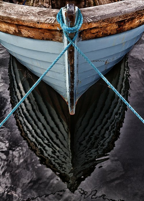 Bay Greeting Card featuring the photograph Dark Waters by Stelios Kleanthous