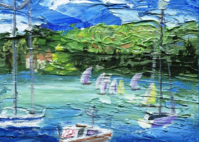 Impressionistic Greeting Card featuring the painting Darling Harbor II by Jamie Frier