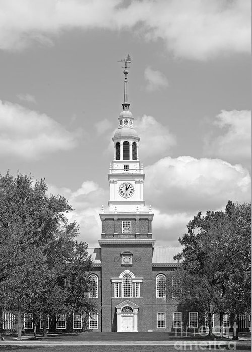 Big Green Greeting Card featuring the photograph Dartmouth College Baker- Berry Library by University Icons