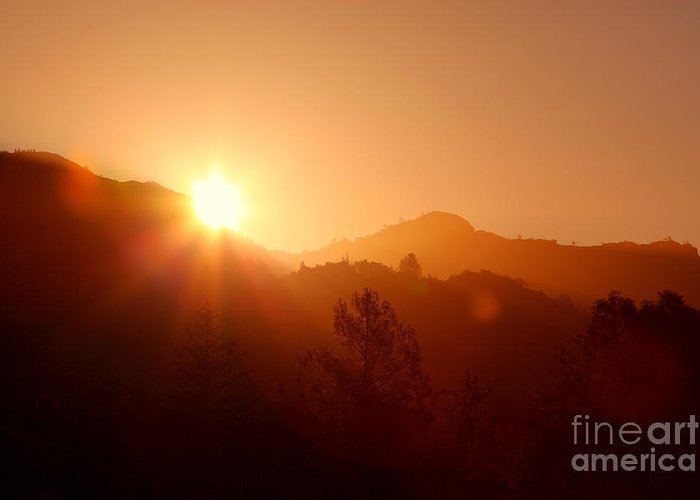 Dawn Greeting Card featuring the photograph Dawn Over Calistoga by Posterity Productions
