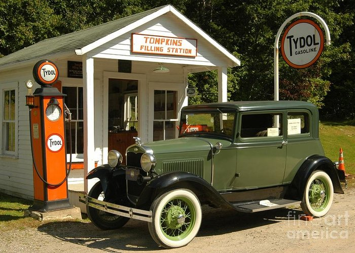 Gas Greeting Card featuring the photograph Days Gone By by Kathleen Struckle