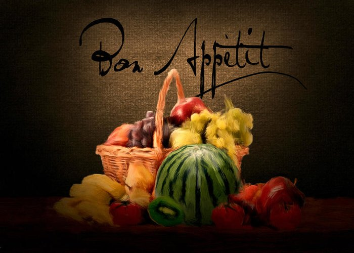 Bon Appetit Greeting Card featuring the digital art Delectable Sight by Lourry Legarde