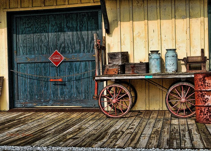 Kenny Francis Greeting Card featuring the photograph Depot Wagon by Kenny Francis