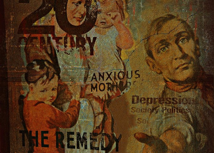 Depression Greeting Card featuring the photograph Depression In The 20th Century - 2 by Jeff Burgess