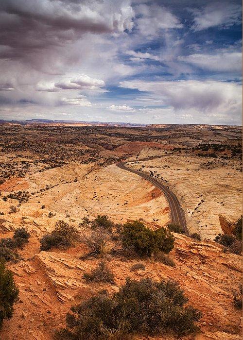 Utah Greeting Card featuring the photograph Desert Road by Andrew Soundarajan