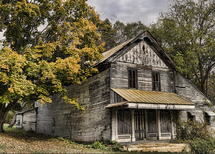 Dilapidated Greeting Card featuring the photograph Dilapidated by Heather Applegate