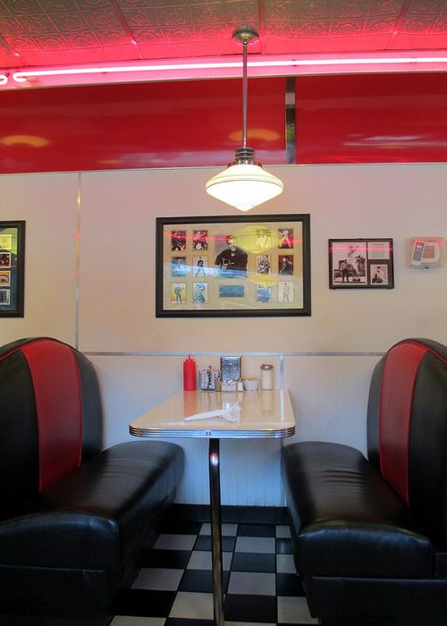 Diner Greeting Card featuring the photograph Diner Booth by Randall Weidner