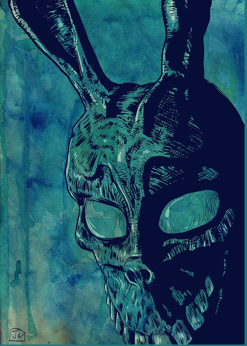 Donnie Darko Greeting Card featuring the drawing Donnie Darko by Giuseppe Cristiano
