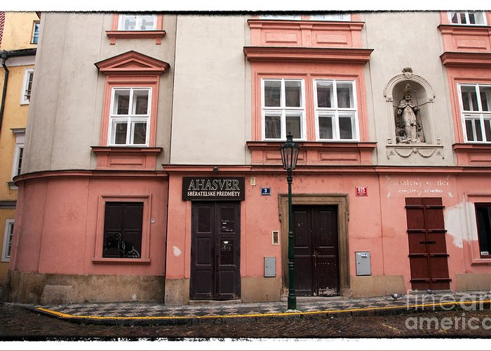 Door Choices In Prague Greeting Card featuring the photograph Door Choices In Prague by John Rizzuto