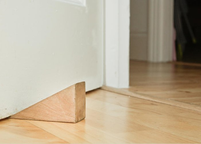 Board Greeting Card featuring the photograph Door Stopper by Tom Gowanlock