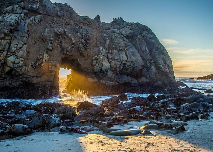 Light Greeting Card featuring the photograph Doorway To Heaven by Pierre Leclerc Photography