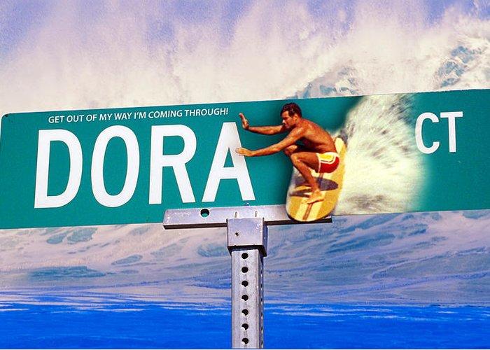 Dora Greeting Card featuring the photograph Dora Court by Ron Regalado