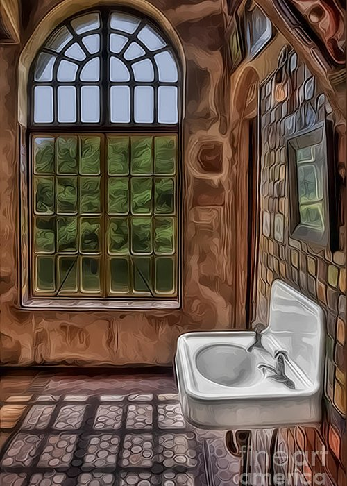 Byzantine Greeting Card featuring the photograph Dormer And Bathroom by Susan Candelario