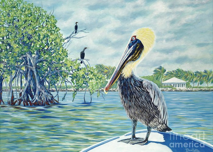 Key Largo Greeting Card featuring the painting Down In The Keys by Danielle Perry