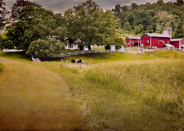 New England Farm Greeting Card featuring the photograph Down On The Farm by Bill Wakeley