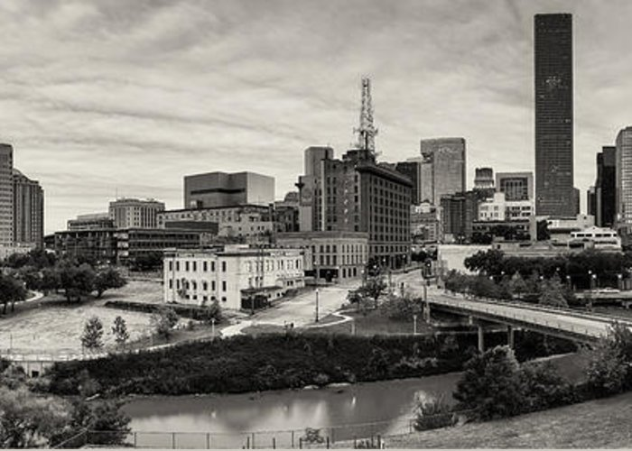University Of Houston Greeting Card featuring the photograph Downtown Houston From Uh-d by Silvio Ligutti