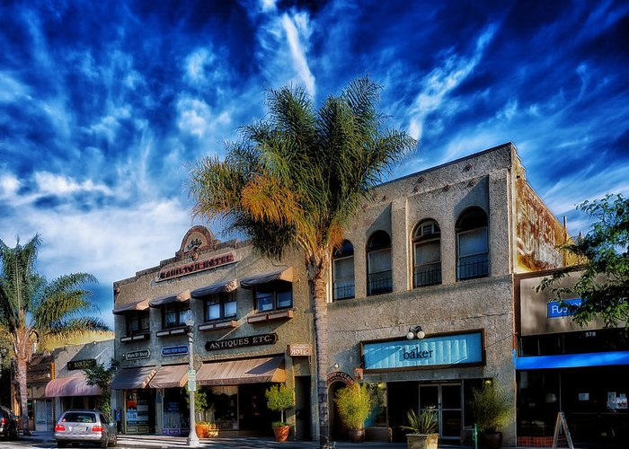 Ventura Greeting Card featuring the photograph Downtown Ventura by Mountain Dreams