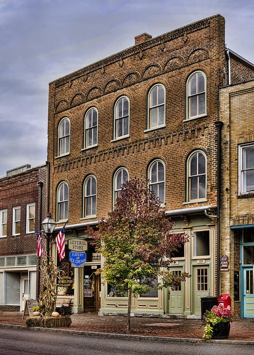 General Store Greeting Card featuring the photograph Dowtown General Store by Heather Applegate