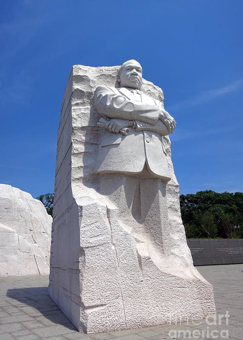 Washington Greeting Card featuring the photograph Dr Martin Luther King Memorial by Olivier Le Queinec