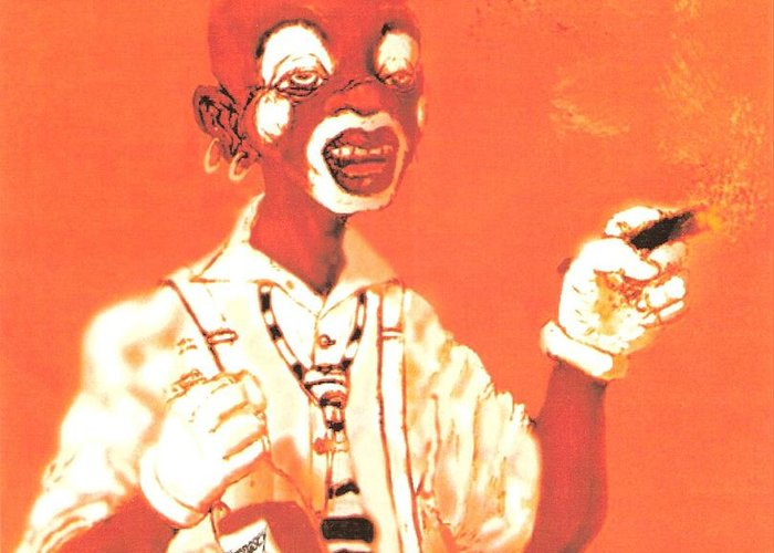 Clown Portrait Greeting Card featuring the drawing Dream Face by George Harrison