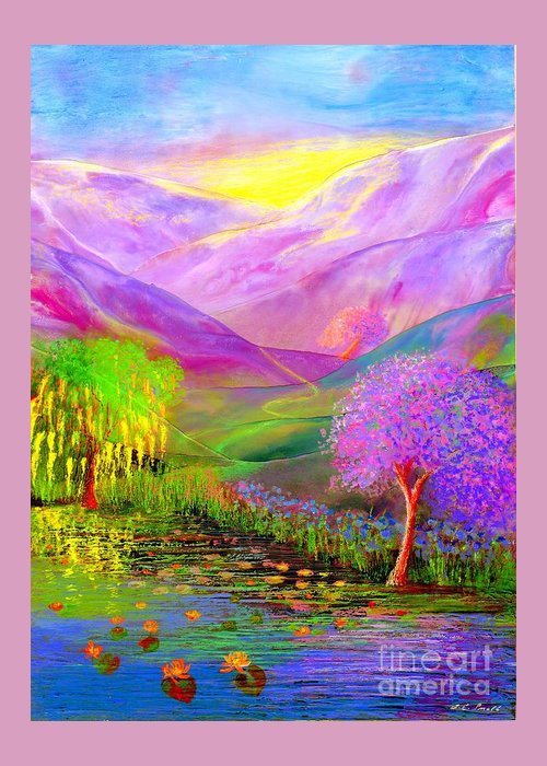 Lake Greeting Card featuring the painting Dream Lake by Jane Small