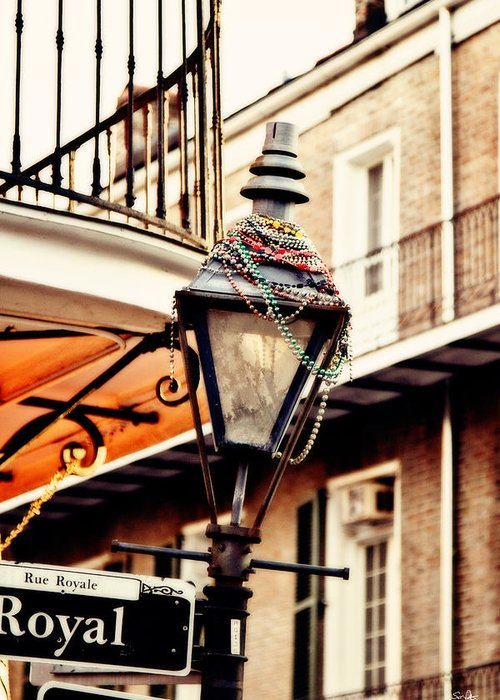 Gas Lamp Greeting Card featuring the photograph Dressed For The Party by Scott Pellegrin