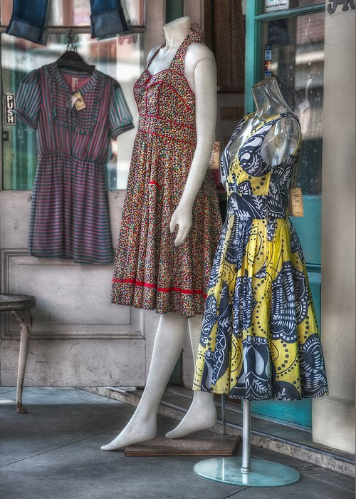 French Quarter Greeting Card featuring the photograph Dresses For Sale by Brenda Bryant