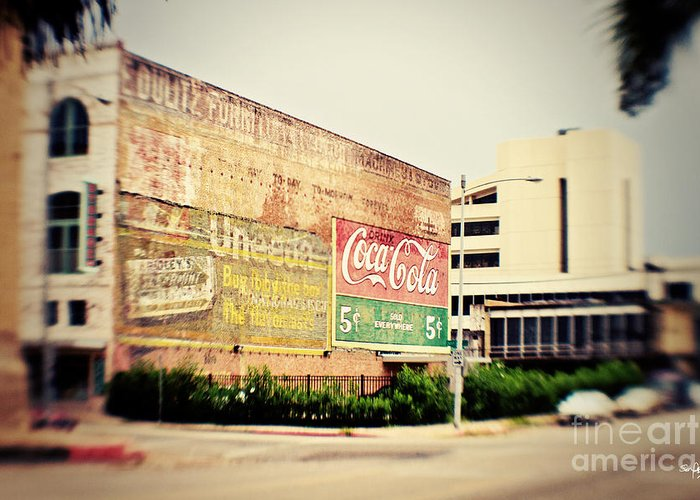 Lomo Greeting Card featuring the photograph Drink Coca Cola by Scott Pellegrin