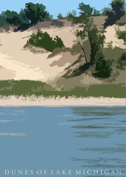 Dunes Greeting Card featuring the photograph Dunes Of Lake Michigan by Michelle Calkins