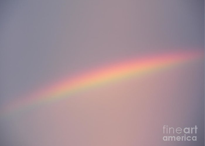 Rainbow Greeting Card featuring the photograph Dusk Rainbow by Joseph Baril