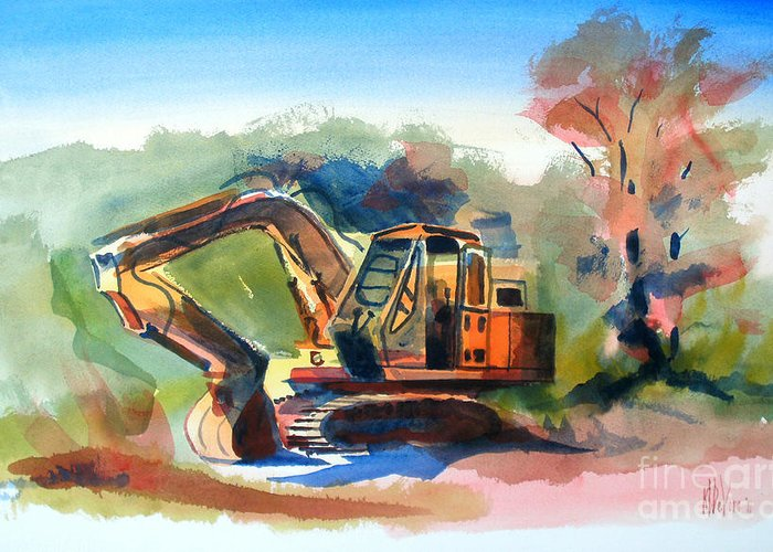 Duty Dozer Greeting Card featuring the painting Duty Dozer by Kip DeVore