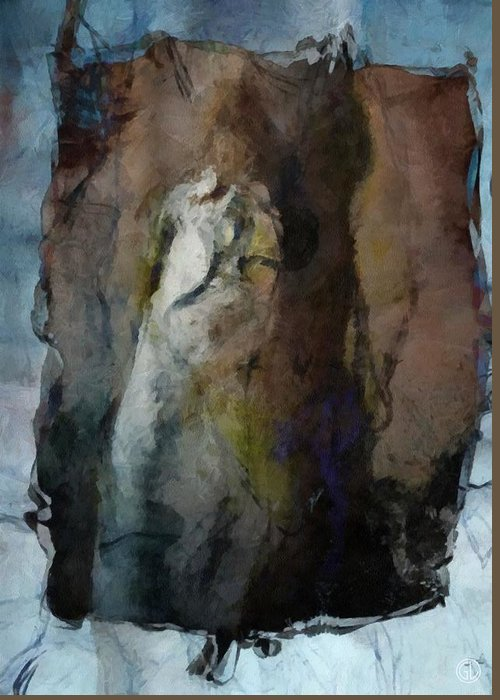 Woman Greeting Card featuring the digital art Dwelling In Her Dark Space by Gun Legler