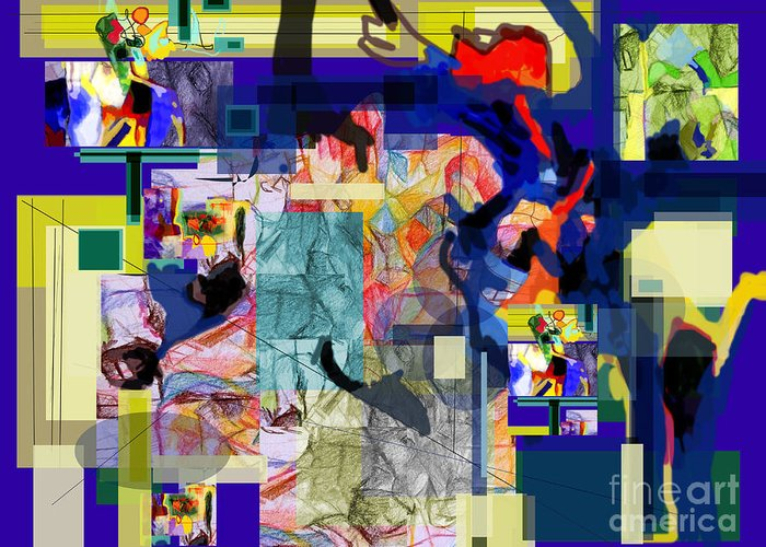 Torah Greeting Card featuring the digital art Each Positive Step Is Vital by David Baruch Wolk