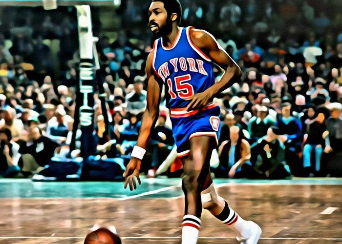 Earl Monroe Greeting Card featuring the painting Earl Monroe by Florian Rodarte