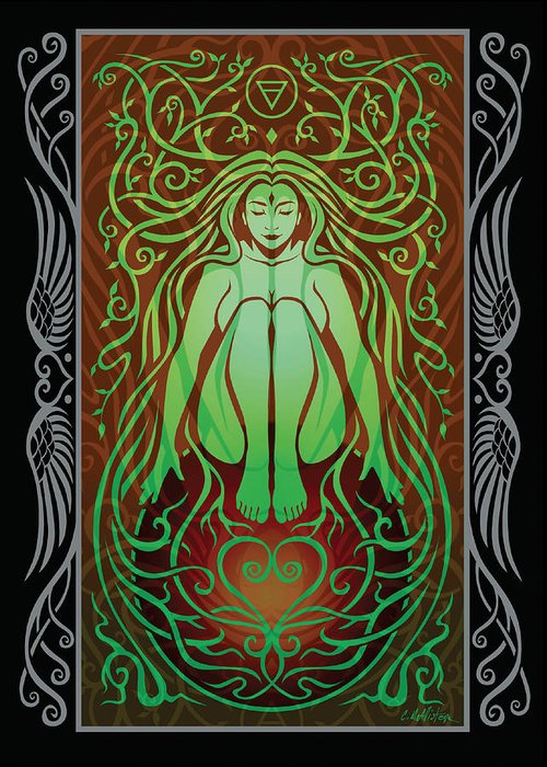 Goddess Greeting Card featuring the digital art Earth Spirit V.2 by Cristina McAllister