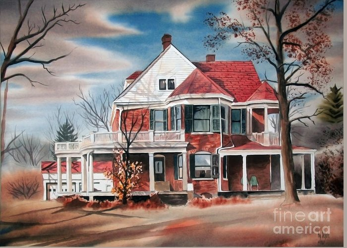 Edgar Home Greeting Card featuring the painting Edgar Home by Kip DeVore