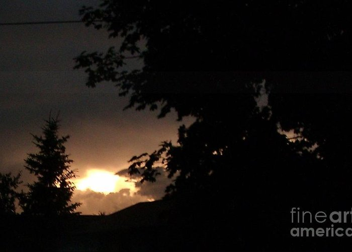 After The Storm Greeting Card featuring the photograph Eerie Sky After The Storm by Gail Matthews